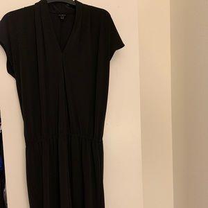 Black midi jersey dress